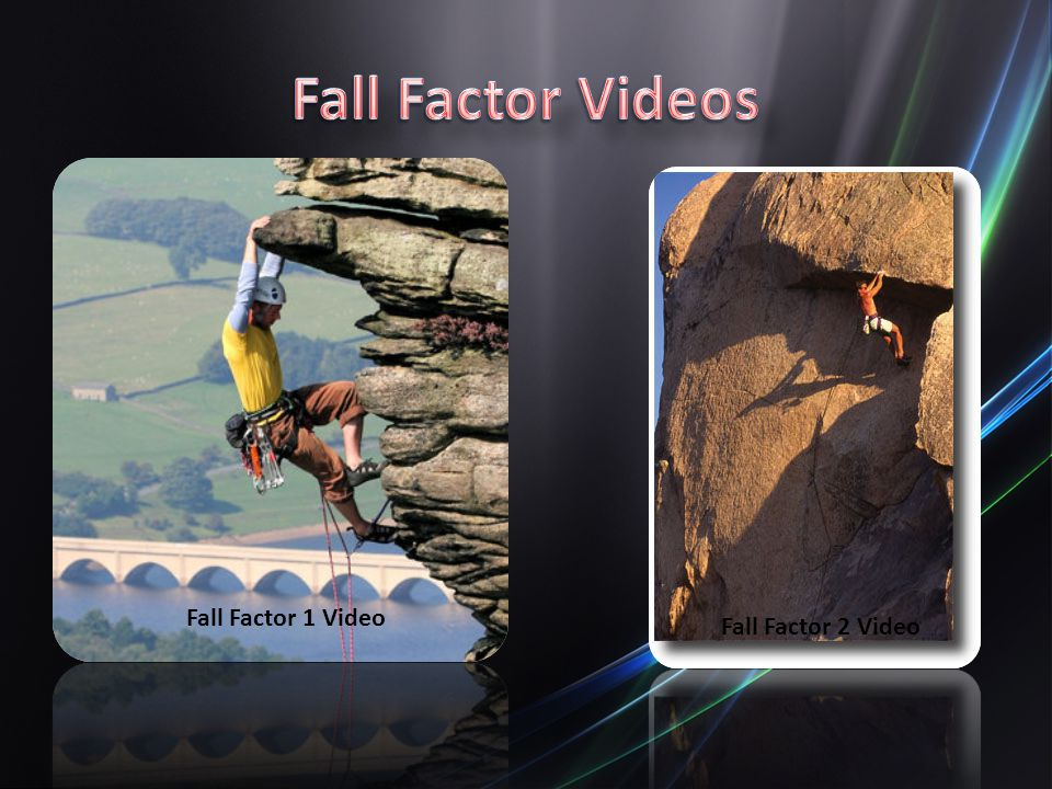 Fall Factor Videos Fall Factor 1 Video Fall Factor 2 Video