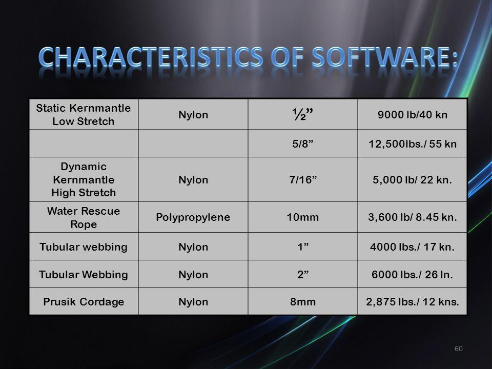 Characteristics of Software: