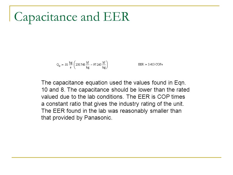 Capacitance and EER