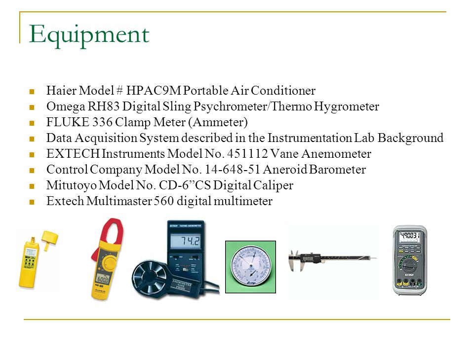 Equipment Haier Model # HPAC9M Portable Air Conditioner