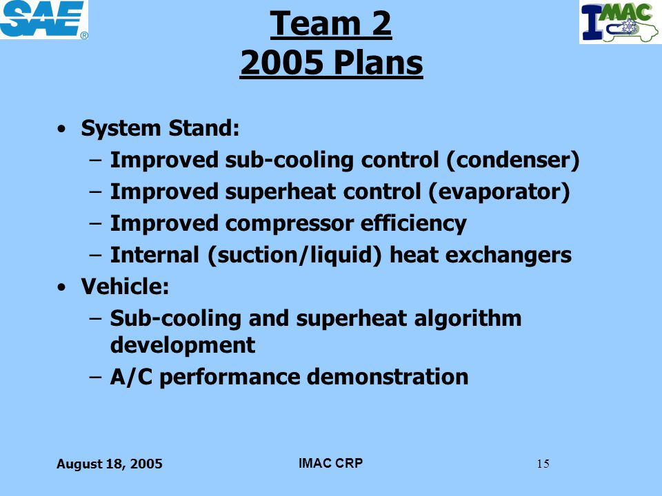 Team 2 2005 Plans System Stand: