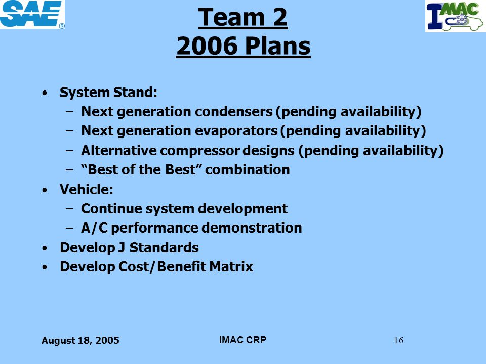Team 2 2006 Plans System Stand: