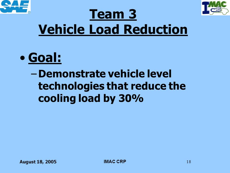 Team 3 Vehicle Load Reduction