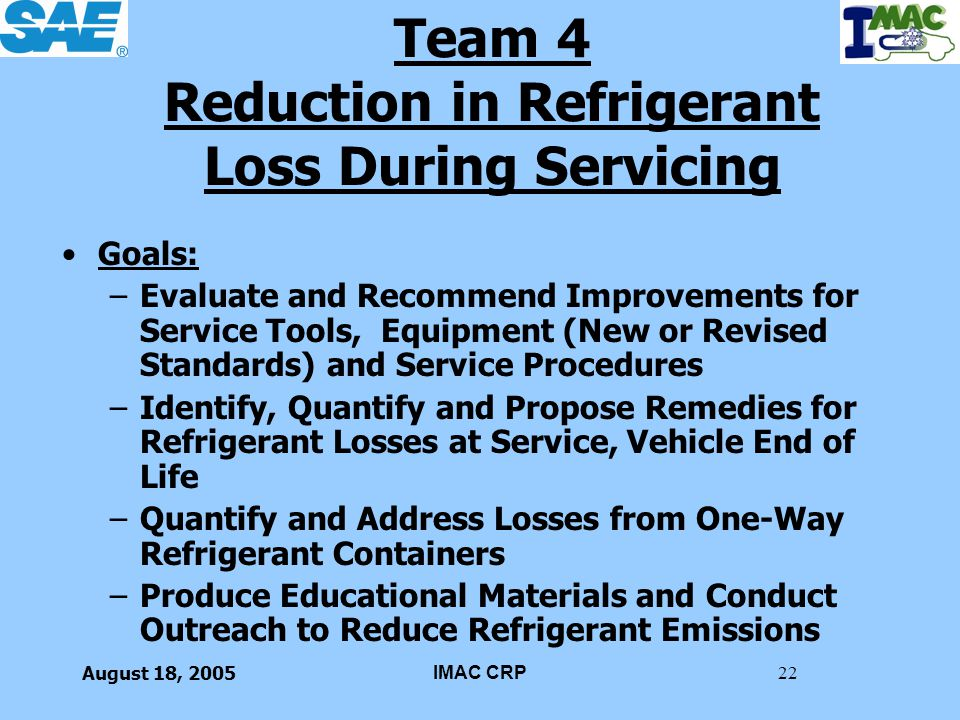 Team 4 Reduction in Refrigerant Loss During Servicing