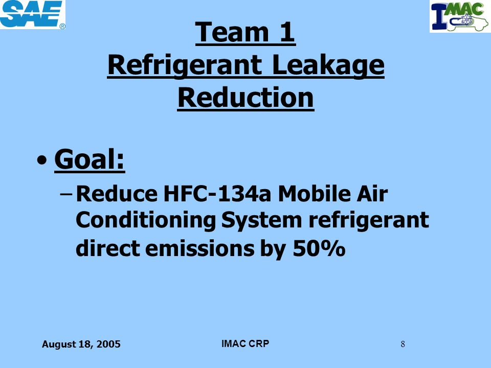 Team 1 Refrigerant Leakage Reduction