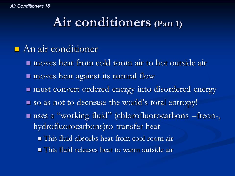 Air conditioners (Part 1)