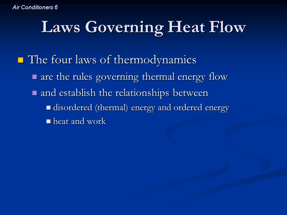 Laws Governing Heat Flow