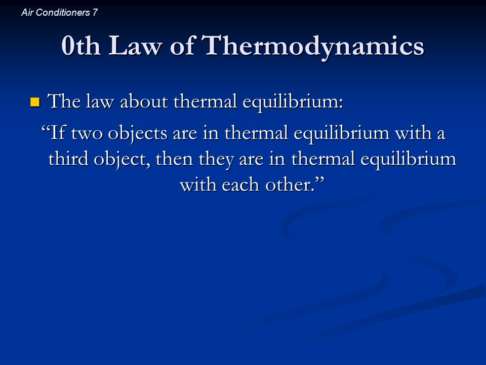 0th Law of Thermodynamics