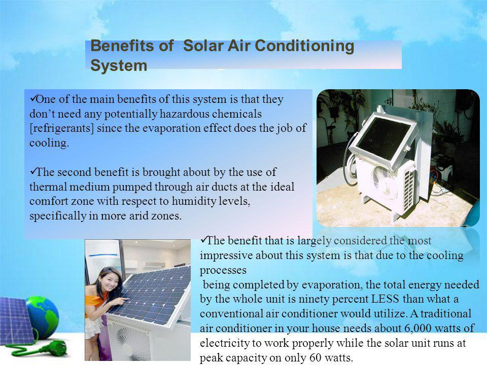 Benefits of Solar Air Conditioning System