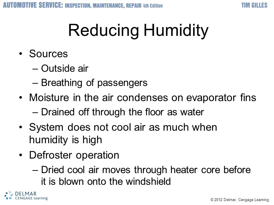 Reducing Humidity Sources