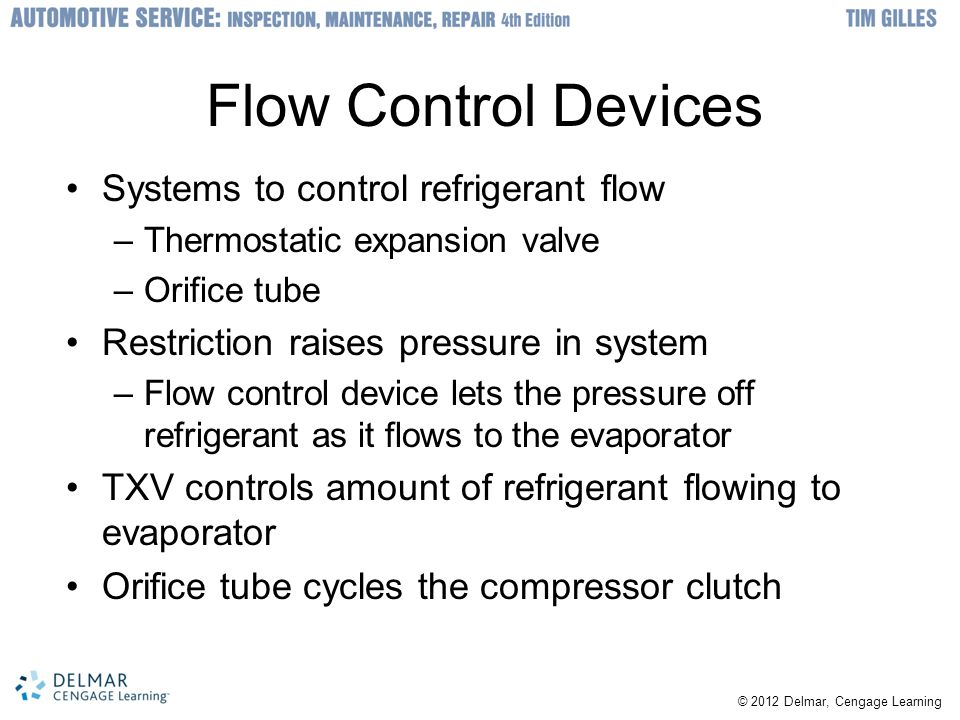 Flow Control Devices Systems to control refrigerant flow