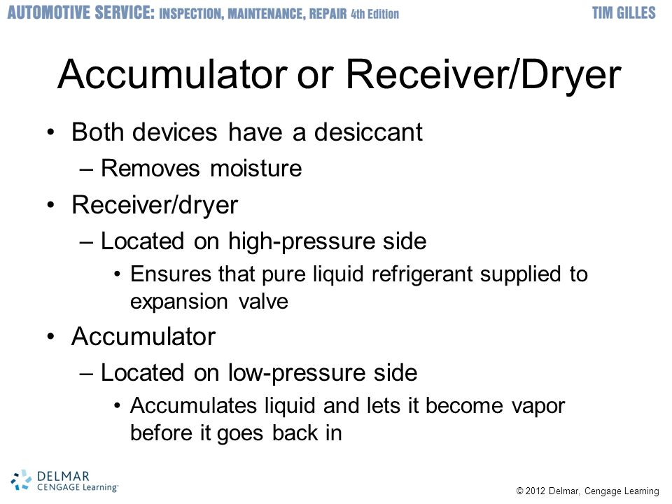 Accumulator or Receiver/Dryer