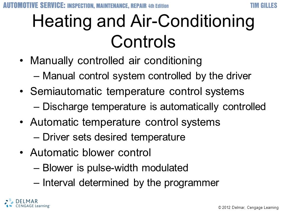 Heating and Air-Conditioning Controls