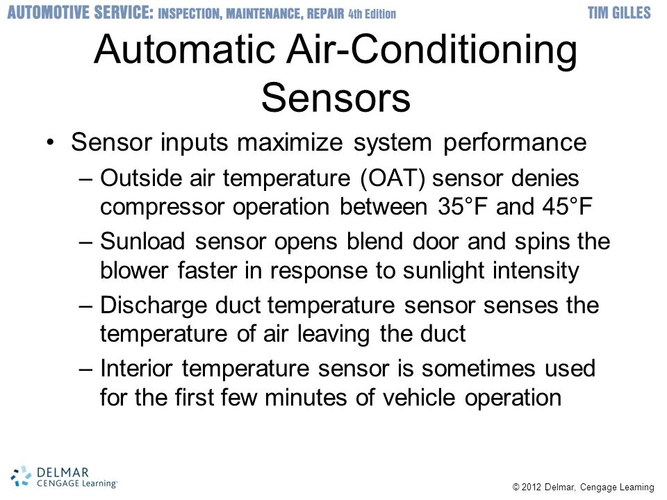 Automatic Air-Conditioning Sensors