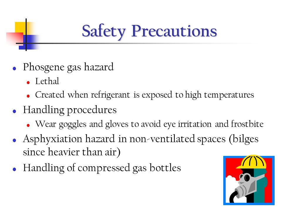 Safety Precautions Phosgene gas hazard Handling procedures