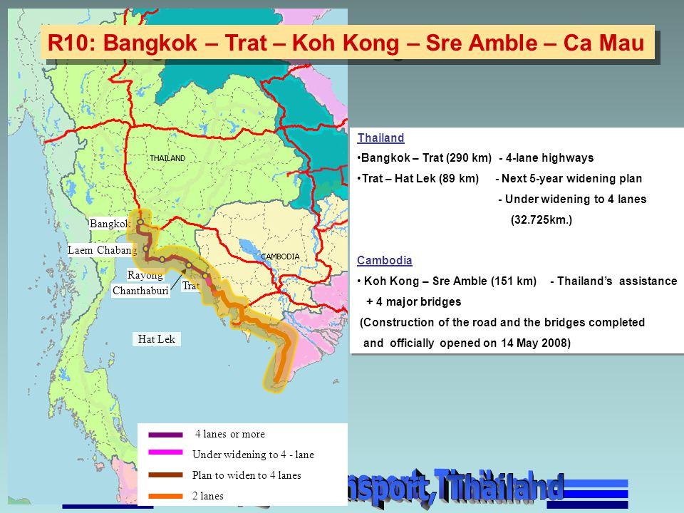 R10: Bangkok – Trat – Koh Kong – Sre Amble – Ca Mau