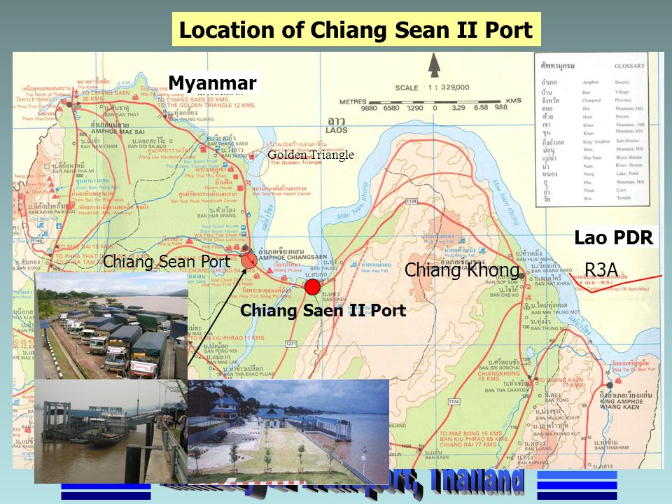 Location of Chiang Sean II Port