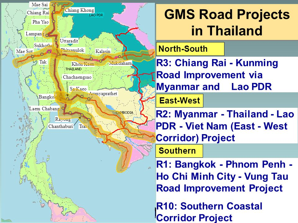 GMS Road Projects in Thailand