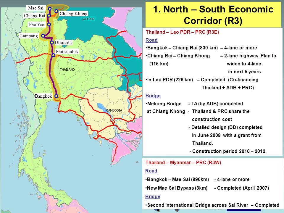1. North – South Economic Corridor (R3)