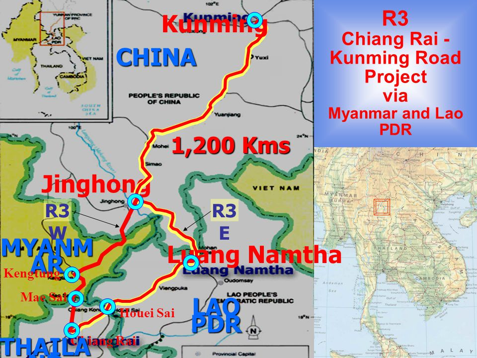 R3 Chiang Rai - Kunming Road Project via Myanmar and Lao PDR