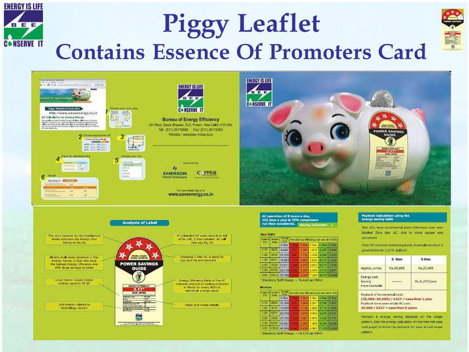 Piggy Leaflet Contains Essence Of Promoters Card