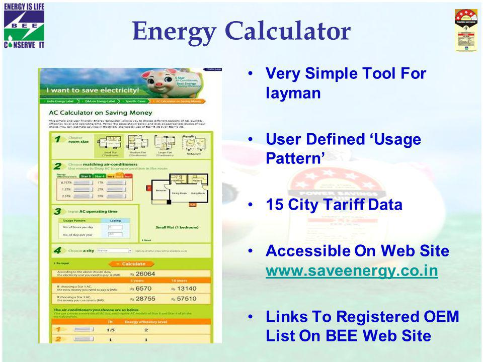 Energy Calculator Very Simple Tool For layman