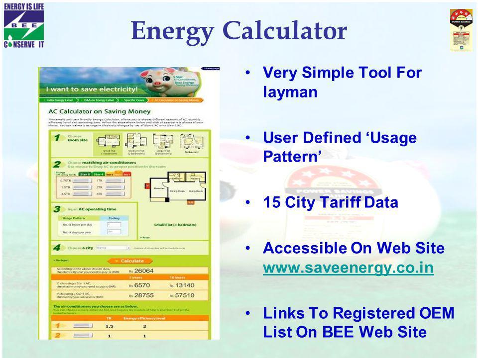 Energy Calculator Very Simple Tool For layman