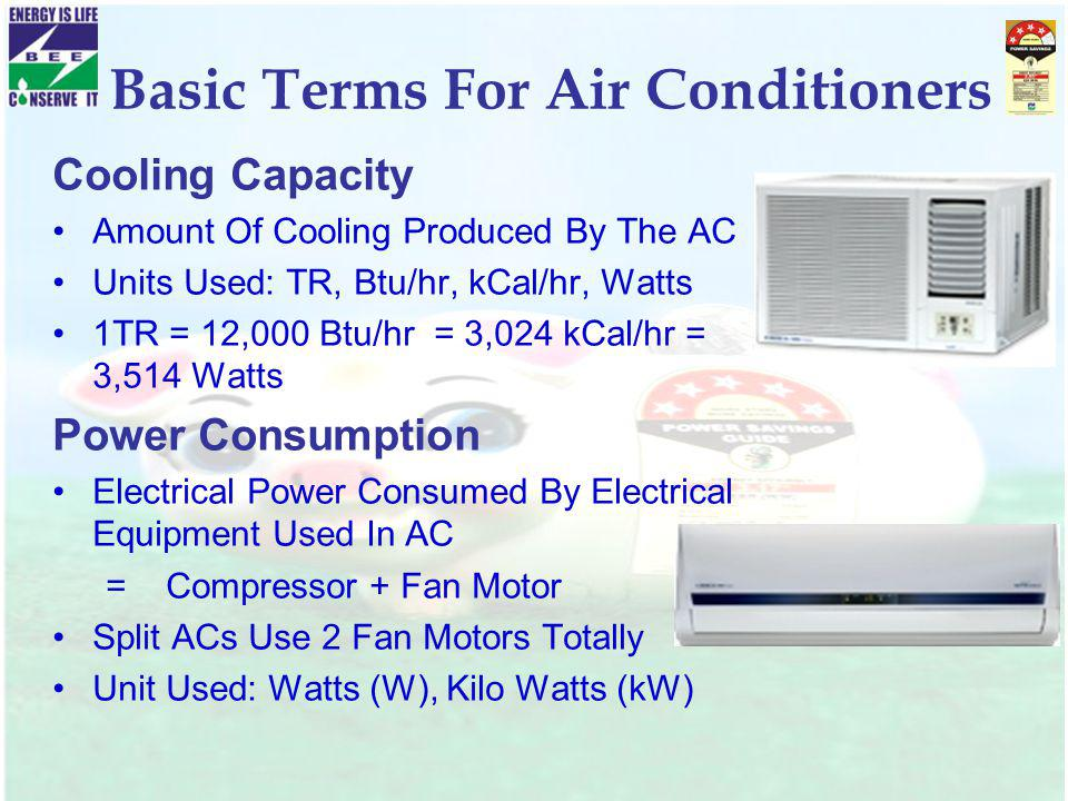 Basic Terms For Air Conditioners