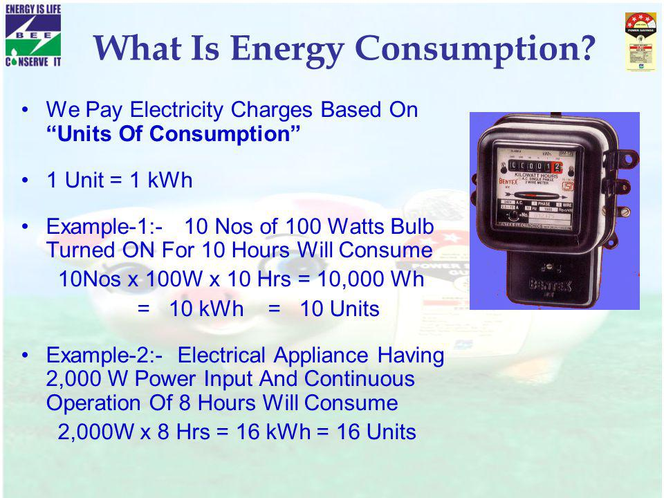What Is Energy Consumption