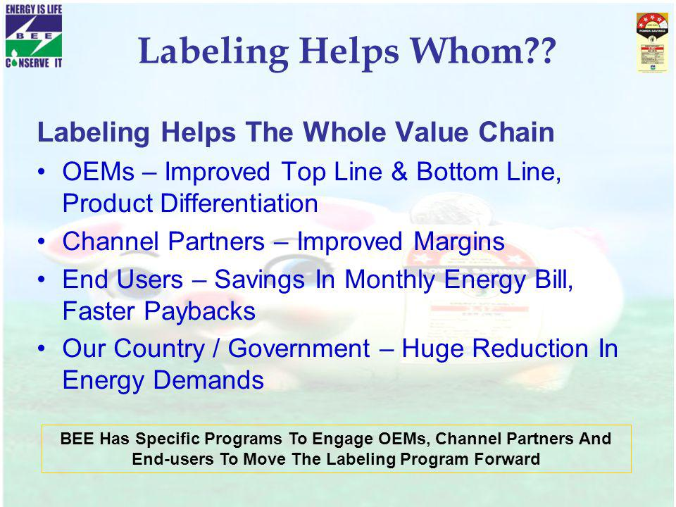 Labeling Helps Whom Labeling Helps The Whole Value Chain