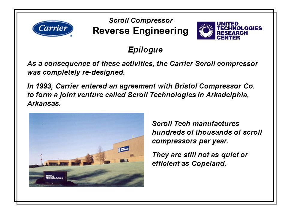 Reverse Engineering Epilogue Scroll Compressor