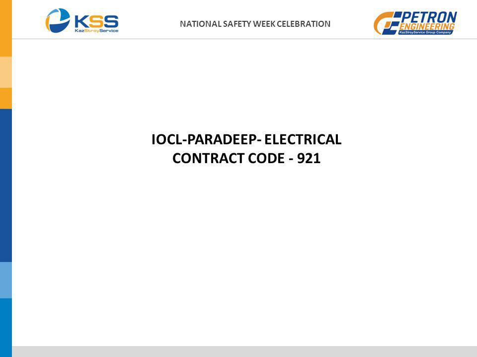 NATIONAL SAFETY WEEK CELEBRATION IOCL-PARADEEP- ELECTRICAL