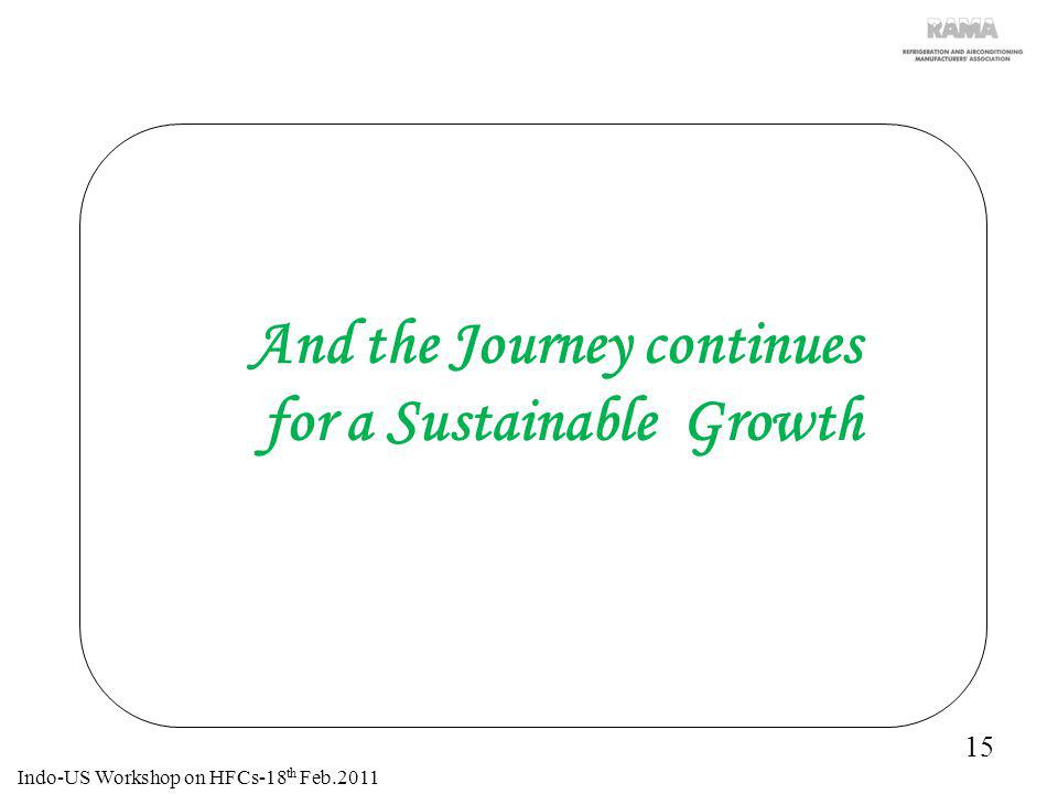 And the Journey continues for a Sustainable Growth