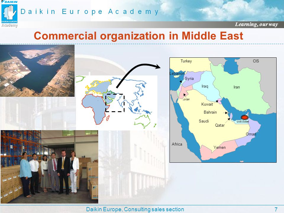 Commercial organization in Middle East