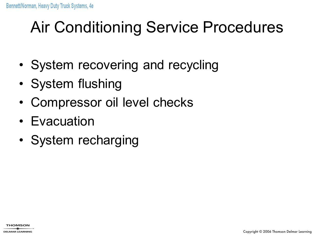 Air Conditioning Service Procedures