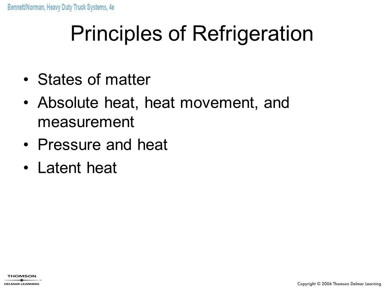 Principles of Refrigeration