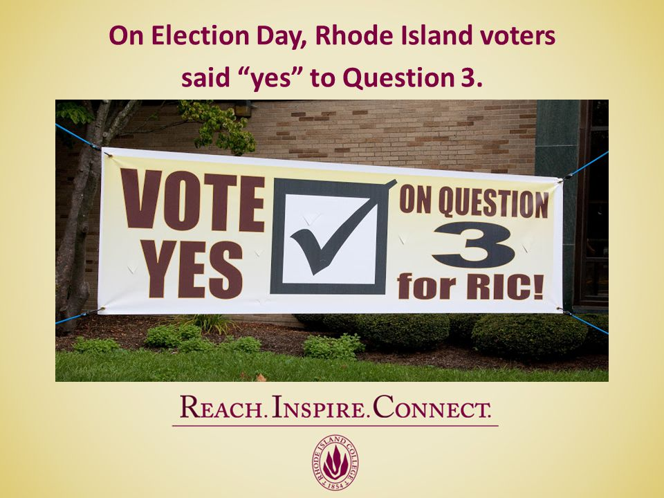 On Election Day, Rhode Island voters said yes to Question 3.