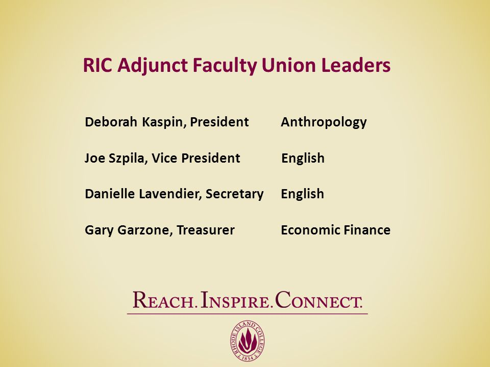 RIC Adjunct Faculty Union Leaders