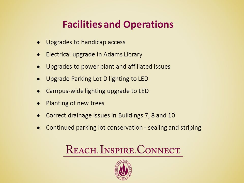 Facilities and Operations