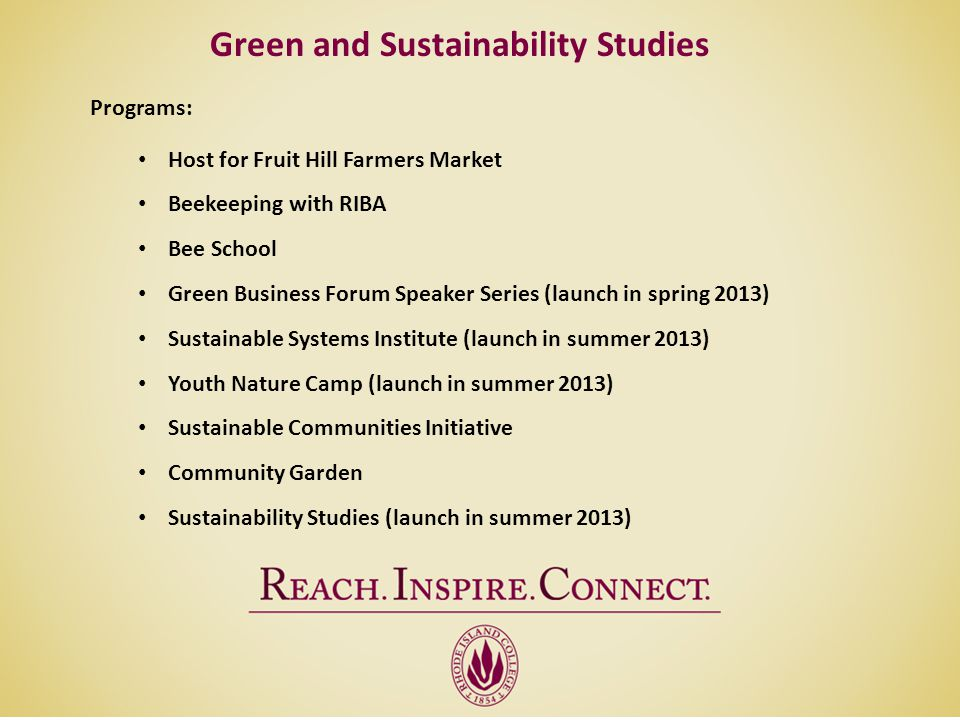 Green and Sustainability Studies