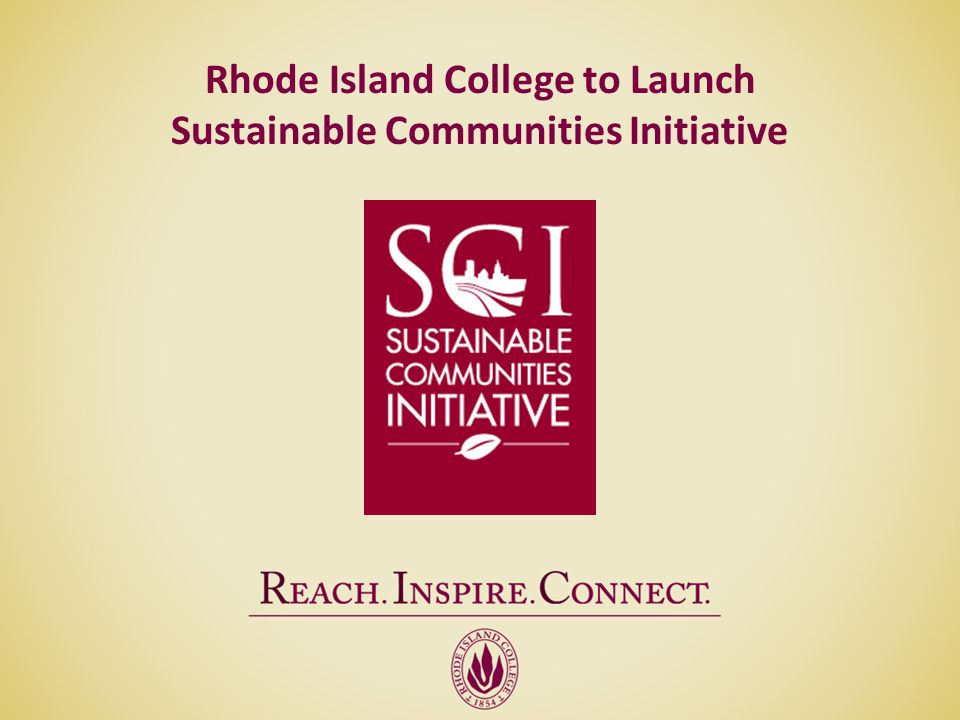 Rhode Island College to Launch Sustainable Communities Initiative