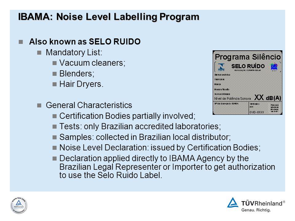 IBAMA: Noise Level Labelling Program