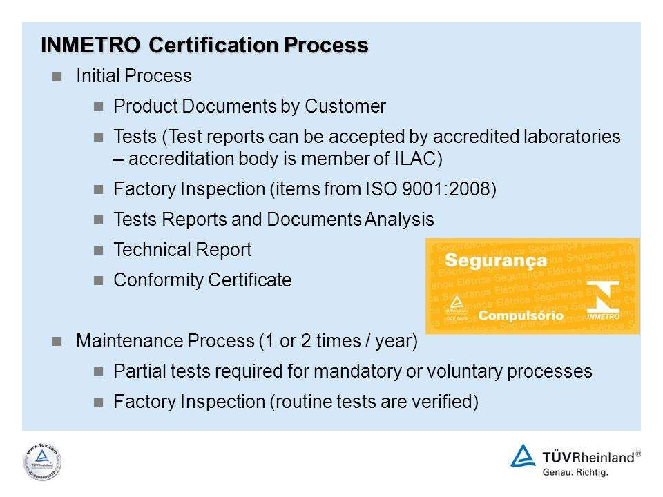 INMETRO Certification Process