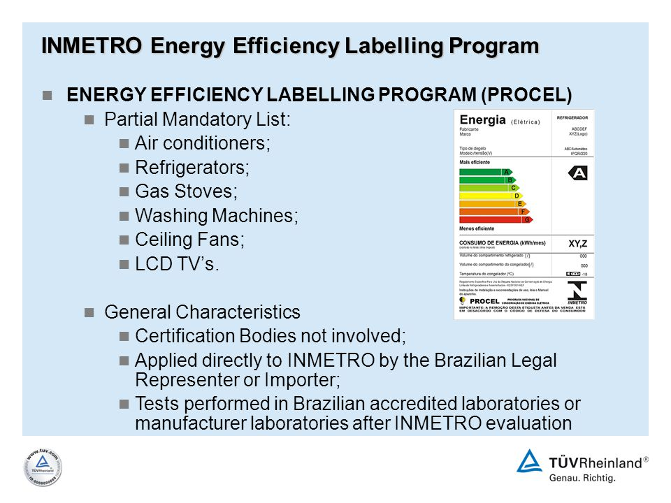 INMETRO Energy Efficiency Labelling Program