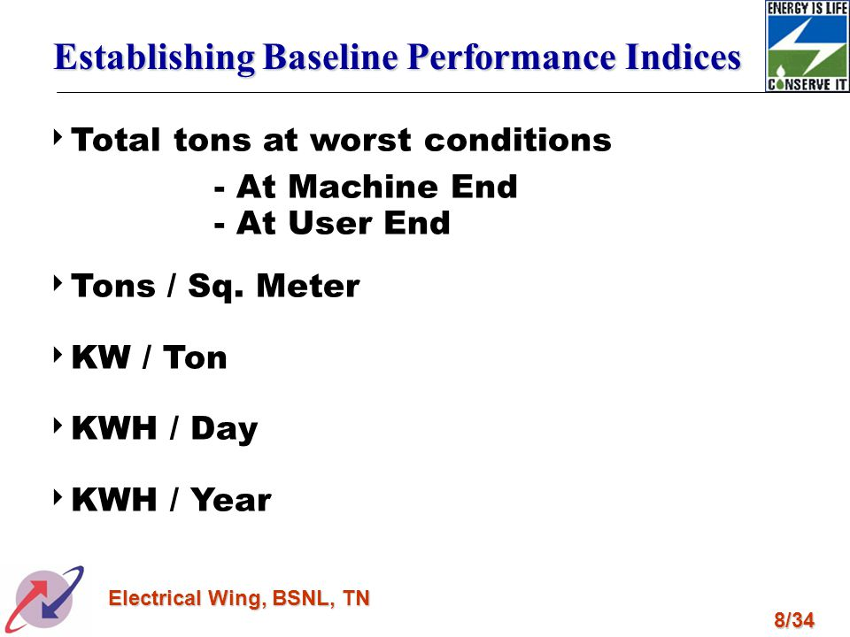 Establishing Baseline Performance Indices