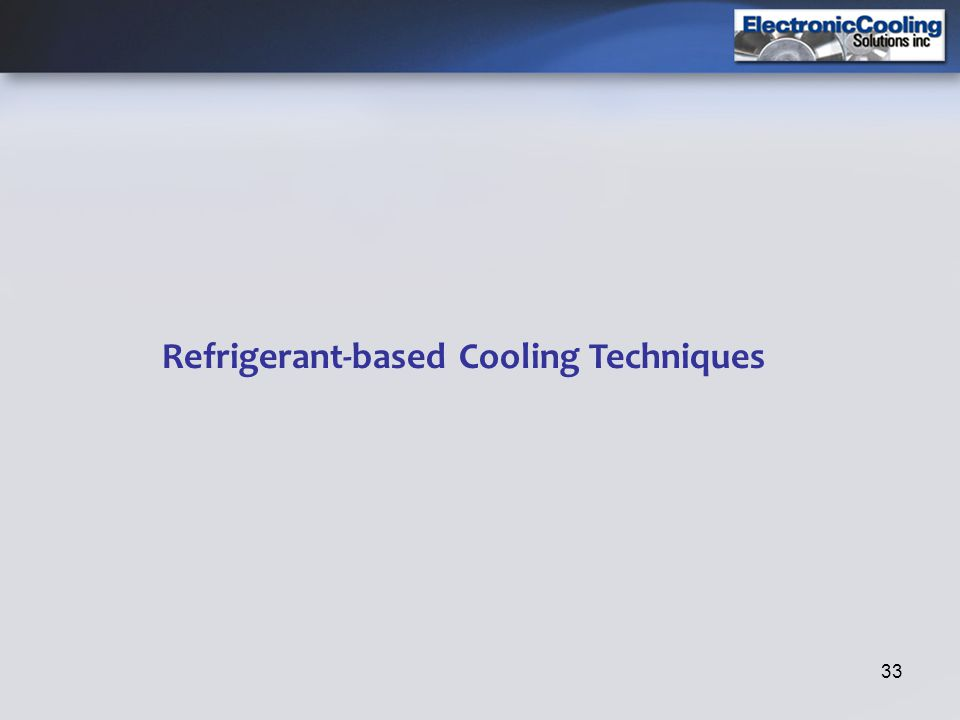 Refrigerant-based Cooling Techniques