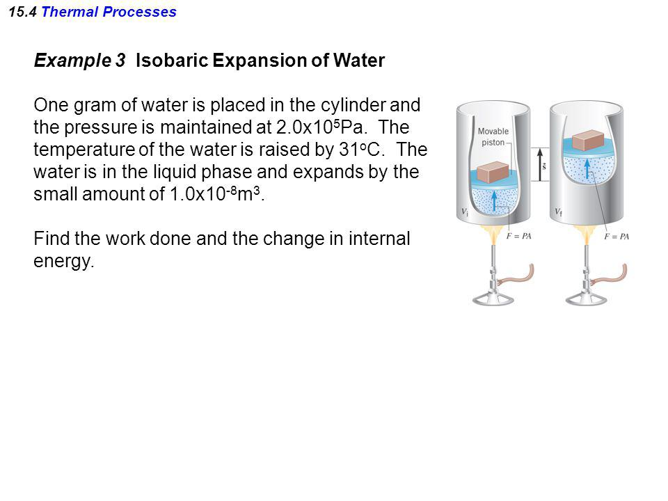 Example 3 Isobaric Expansion of Water