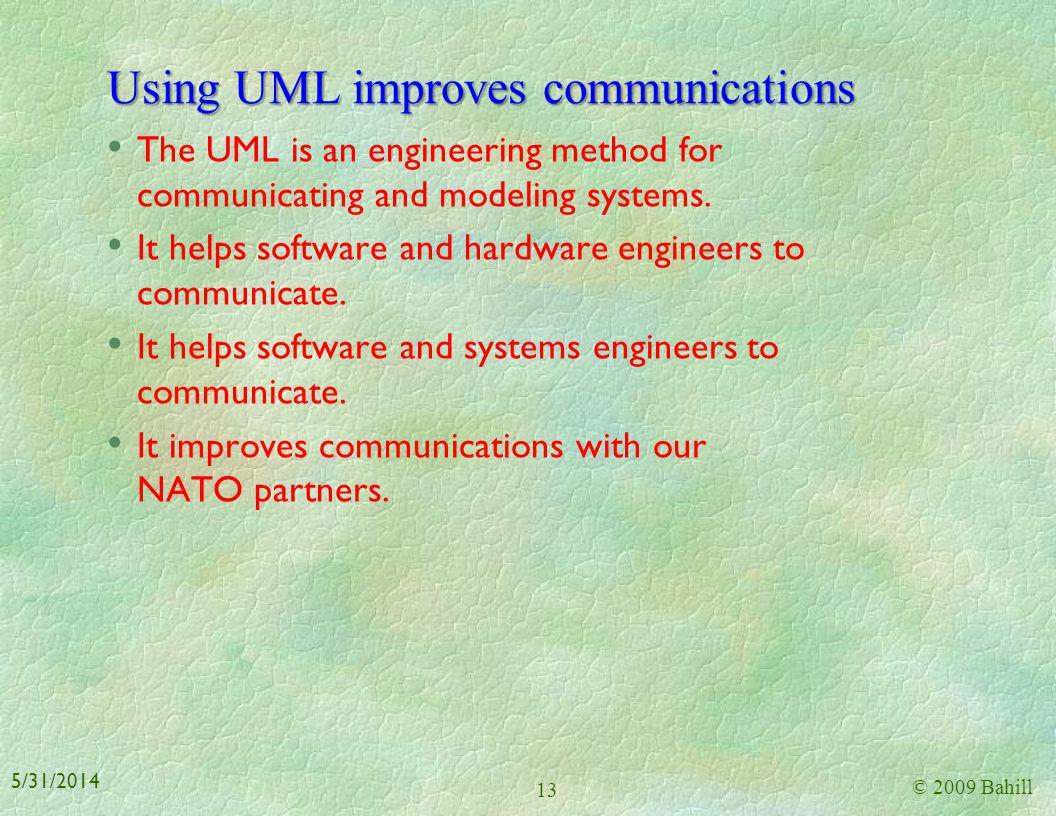 Using UML improves communications