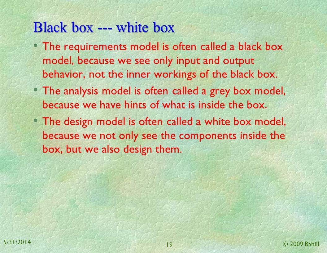 Black box --- white box