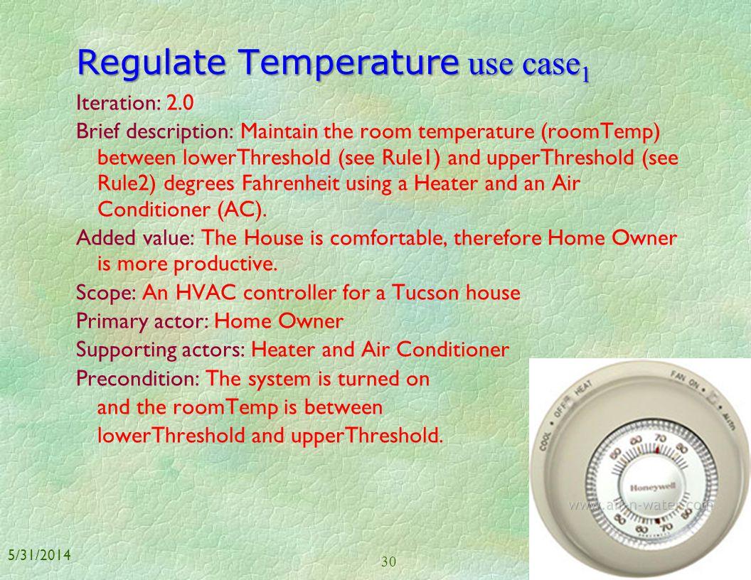 Regulate Temperature use case1